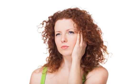 Woman considering eyelid surgery